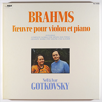 BRAHMS - Complete Works for Violin & Piano 2LP